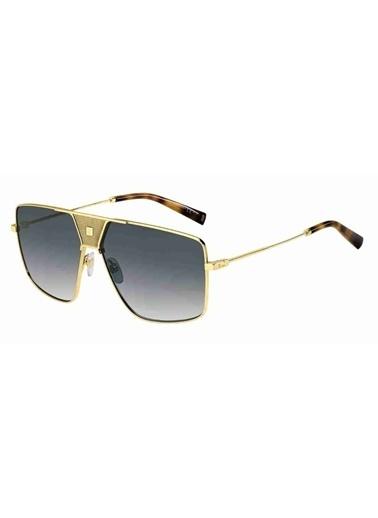 Givenchy Givenchy Gv 7162/S 2F7 63 Ekartman Erkek Güneş Gözlüğü Altın